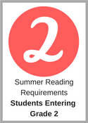 Summer Reading Requirements for students entering grade 2
