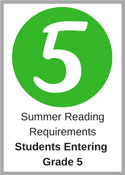 Summer Reading Requirements for students entering grade 5