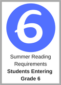 Summer Reading Requirements for students entering grade 6
