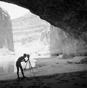 [Tad Nichols with camera and tripod at Redwall Cav