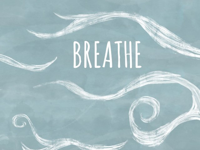 swirls with the word breathe