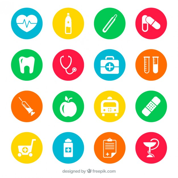 Clip art images of medical related objects