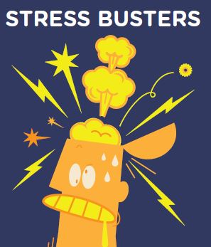 Stressbusters cartoon of head exploding