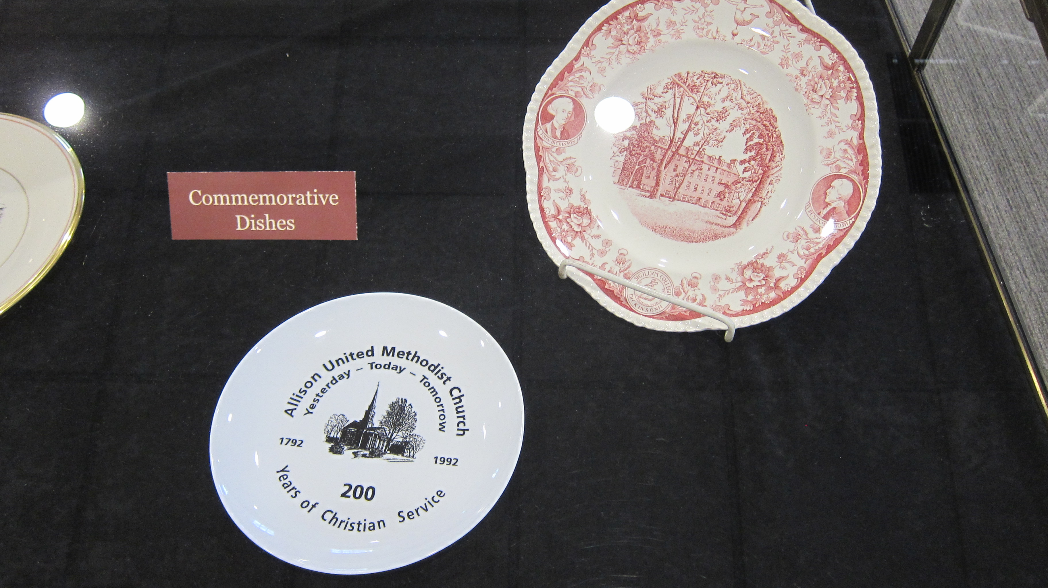Commemorative Plates from Dickinson College
