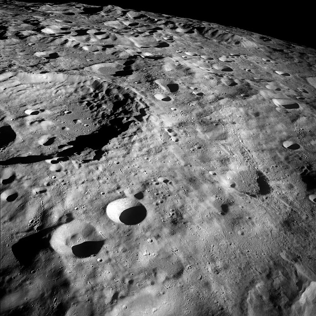 Luna Surface from Apollo 8 Spacecraft