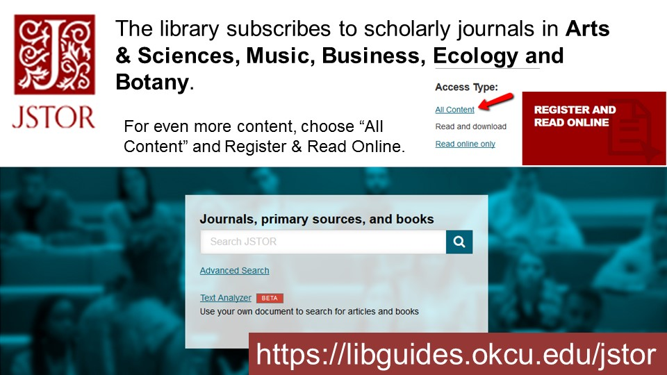 JSTOR database advertisement