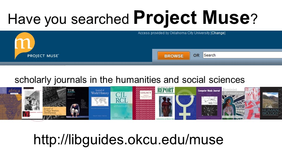 search Project Muse for scholarly articles in the humanities and social sciences
