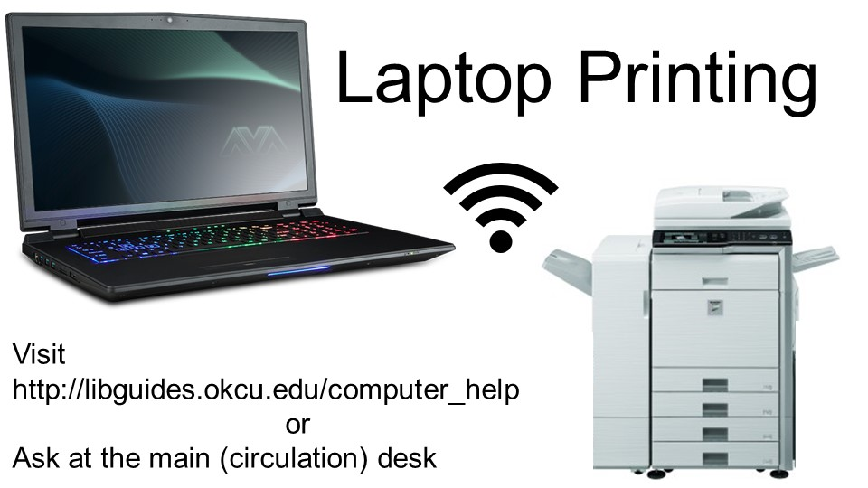 Laptop Printing available