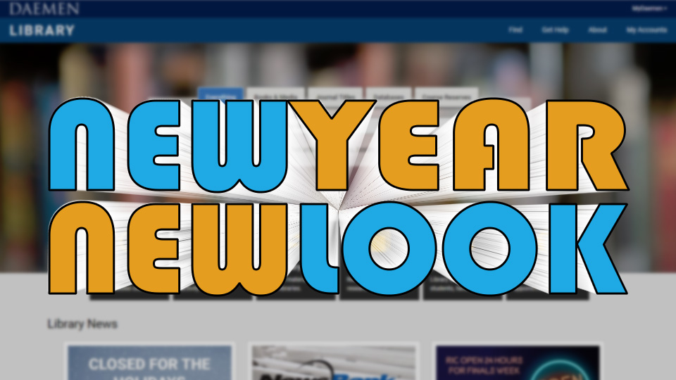 new year, new look for library website