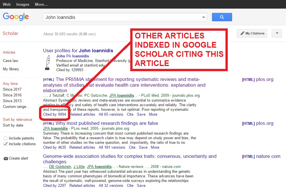 IMAGE OF cited articles link in google scholar