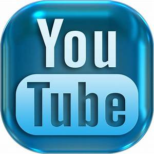 YouTube logo in blue