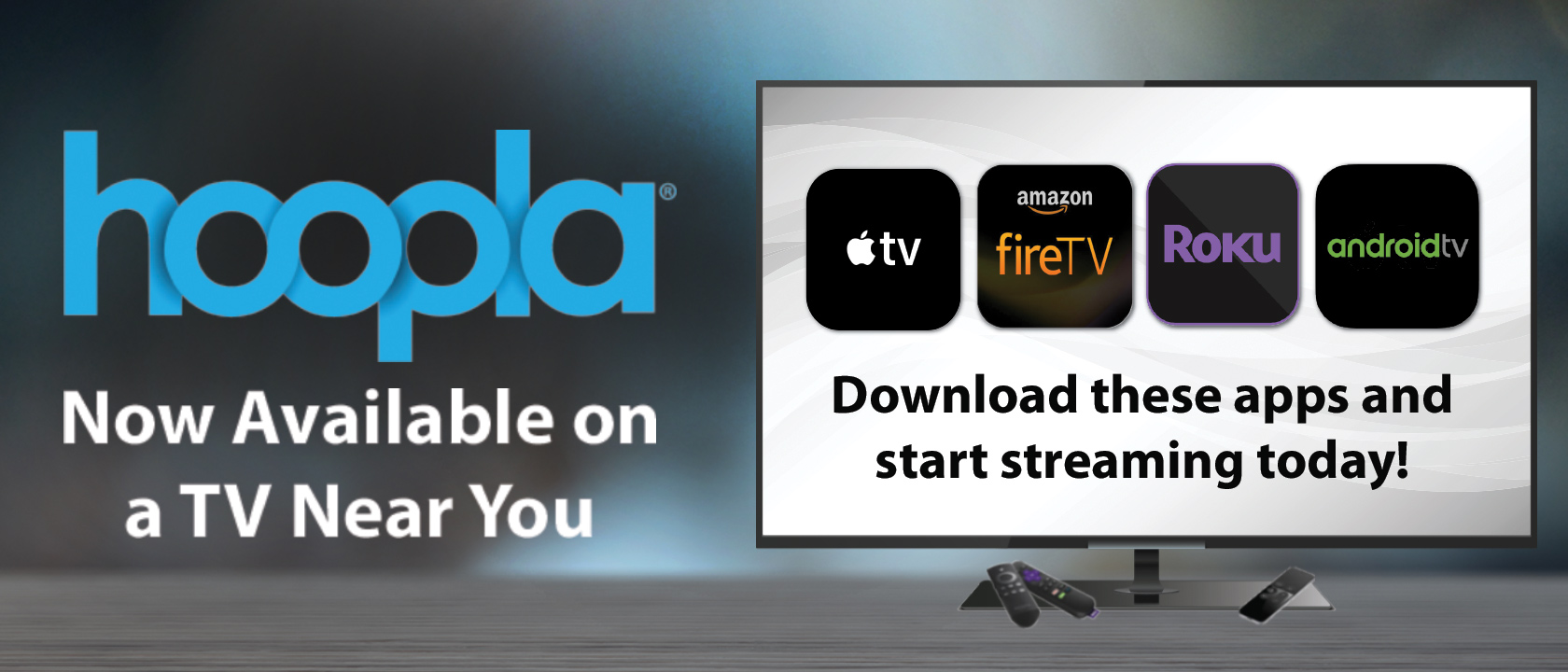 Hoopla on Streaming Devices