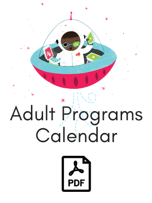 Boy in a spaceship links to adult programs calendar