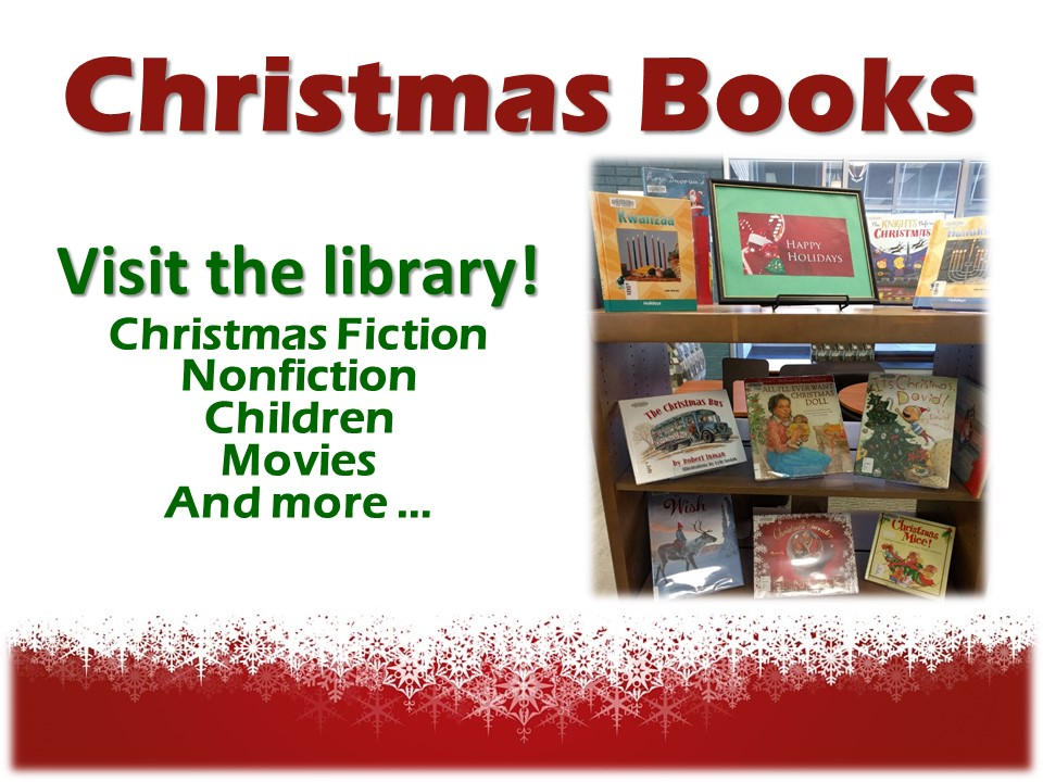 Christmas Books Display in the library