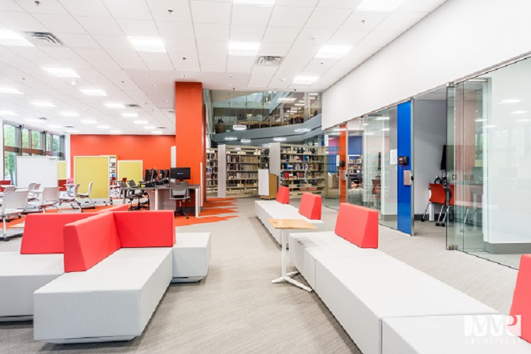 Image of newly renovated Management library interi