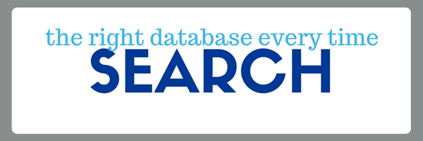 the right database every time: search library databases