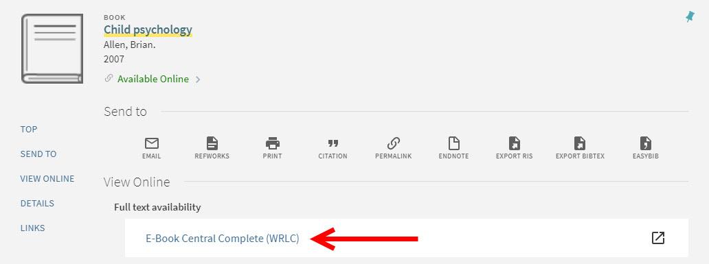 View Online button screenshot