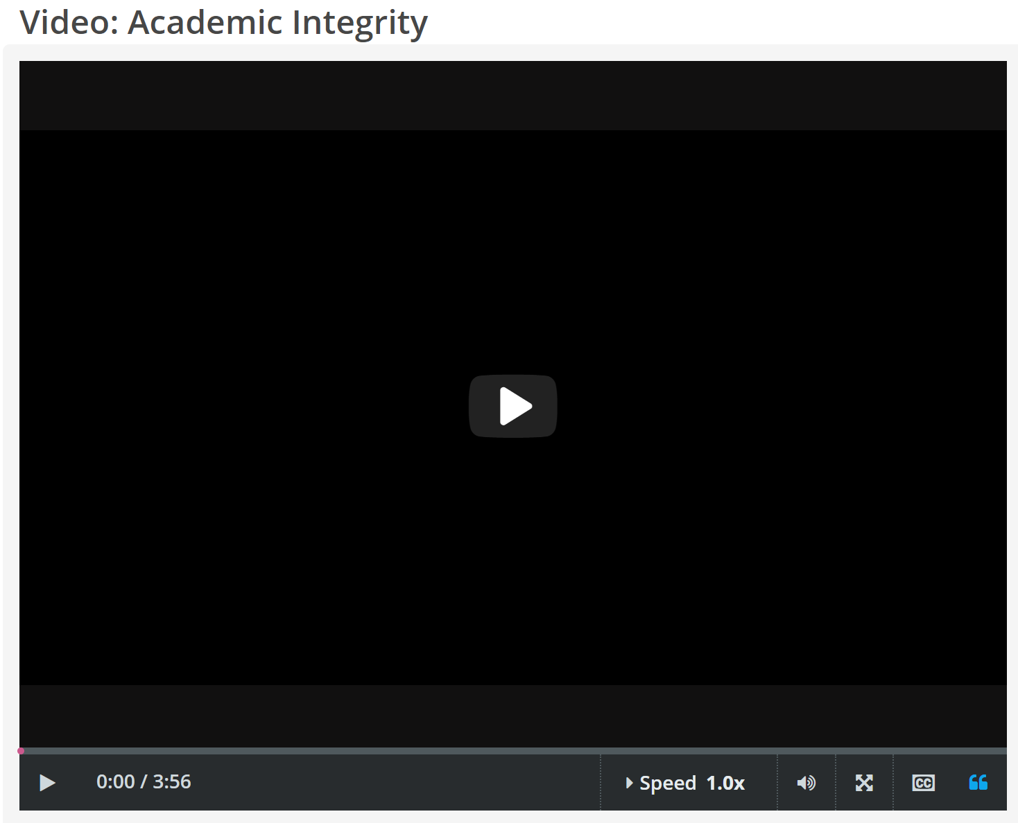 "CREDO InfoLit video, ""Academic Integrity"" video"