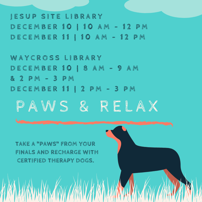 Paws & Relax event dates and time