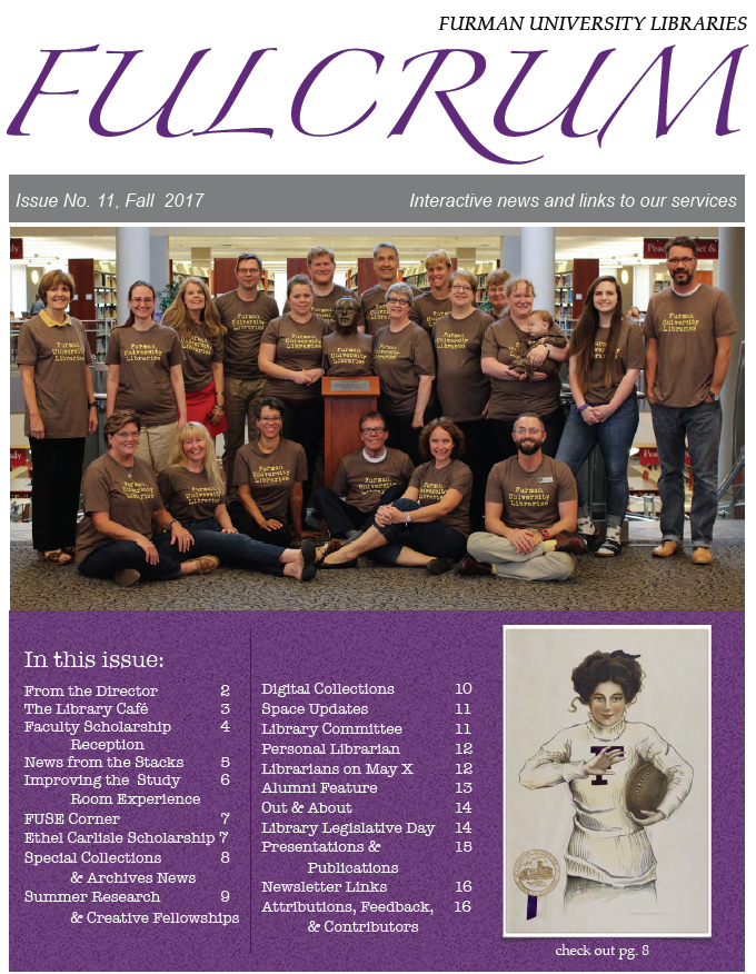 Cover page of the Fulcrum newsletter