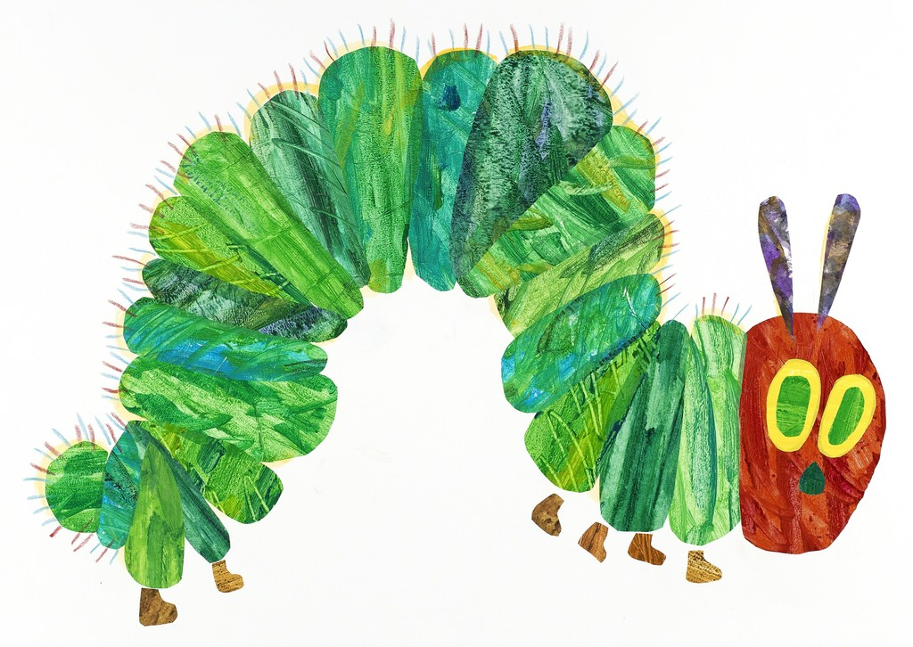 caterpillar art from Hungry, Hungry Caterpillar by Eric Carle