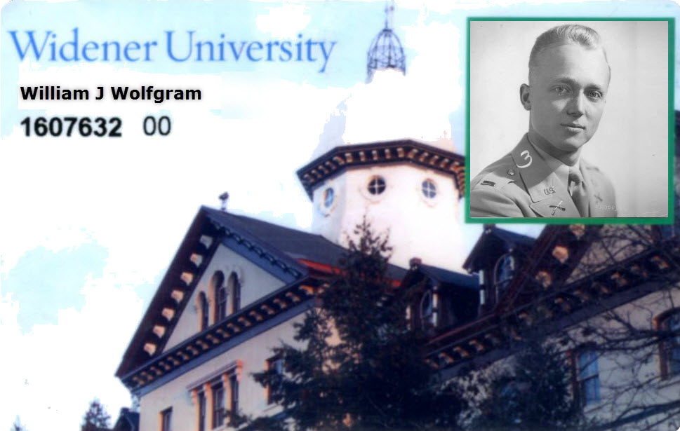Widener University ID example image