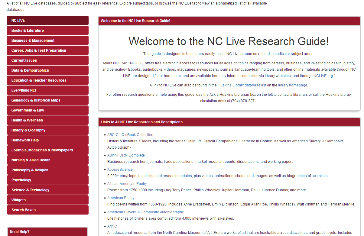 nclive libguide screenshot