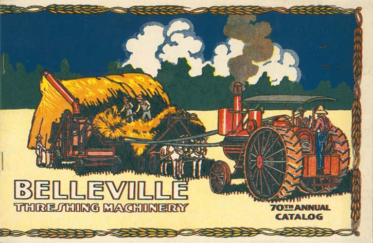 Cover of a catalog from the Belleville Threshing Machinery company
