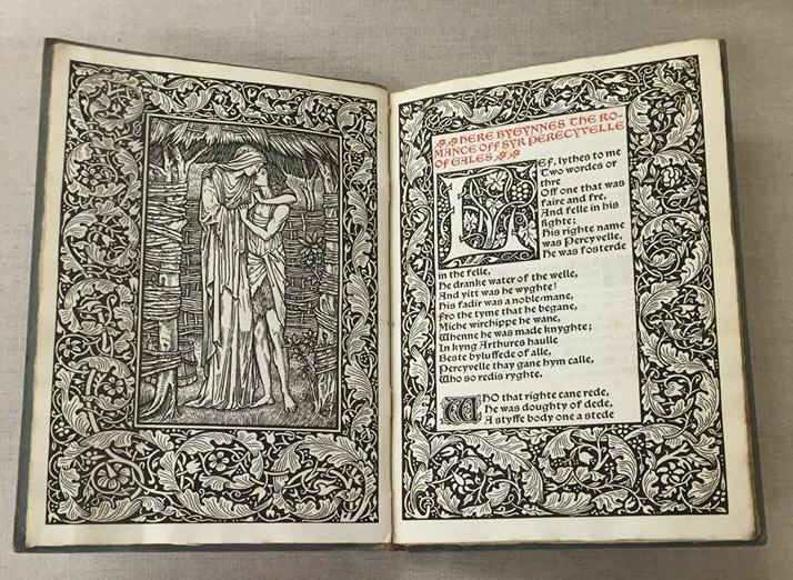 Embellished title page of a book from the Kelmscott Press