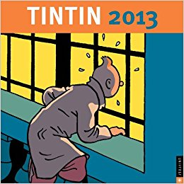 Front cover for the Tintin calendar 2013
