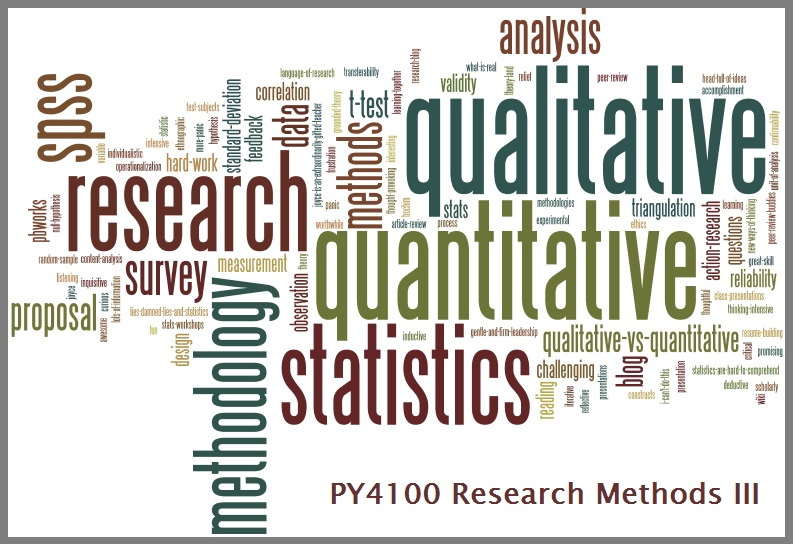 PY4100 - Research Methods III
