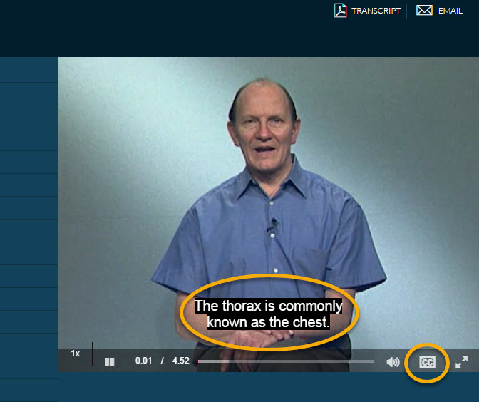 Acland's Video Atlas of Human Anatomy Closed Captioning