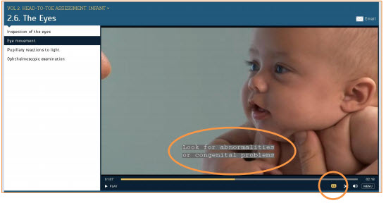 Bate's Visual Guide To Physical Examination closed captioning screenshot