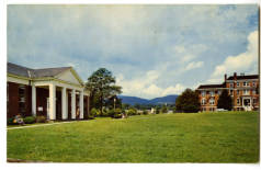 James Addison Jones Library and Dunham Hall, Brevard College, Brevard, North Carolina