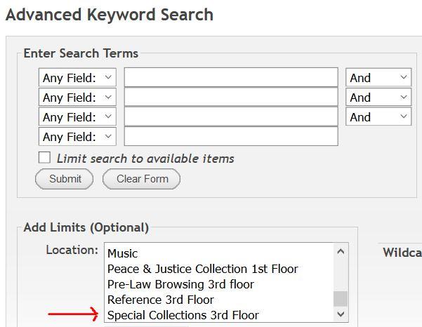 Xplore advanced search screen