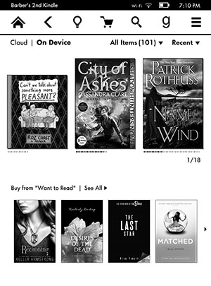 Kindle Paperwhite Downloads Screenshot