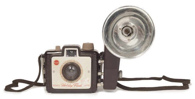 Kodak Brownie camera with flash, ca 1955