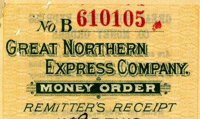 Money order receipt, 1901