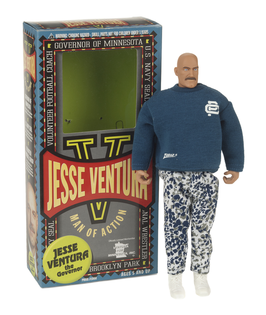 Jesse Ventura action figure with box
