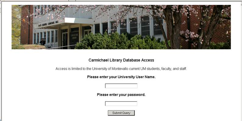 Off-campus Authentication example