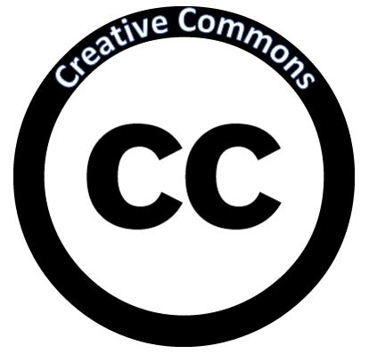 "Creative Commons Icon with text written in the border, ""Creative Commons"""