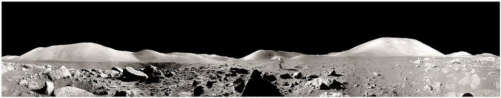 Moon Panorama with Astronaut