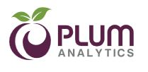 Plum Analytics, or PlumX, logo
