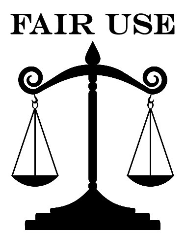 """Fair Use"" Text above the Balance of Law Scales Image"