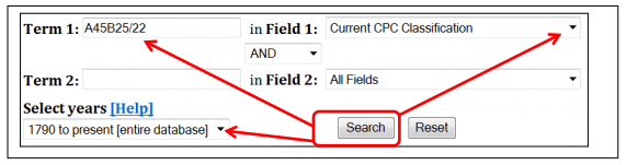 PatFT search box
