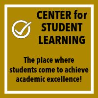 Center for Student Learning Button