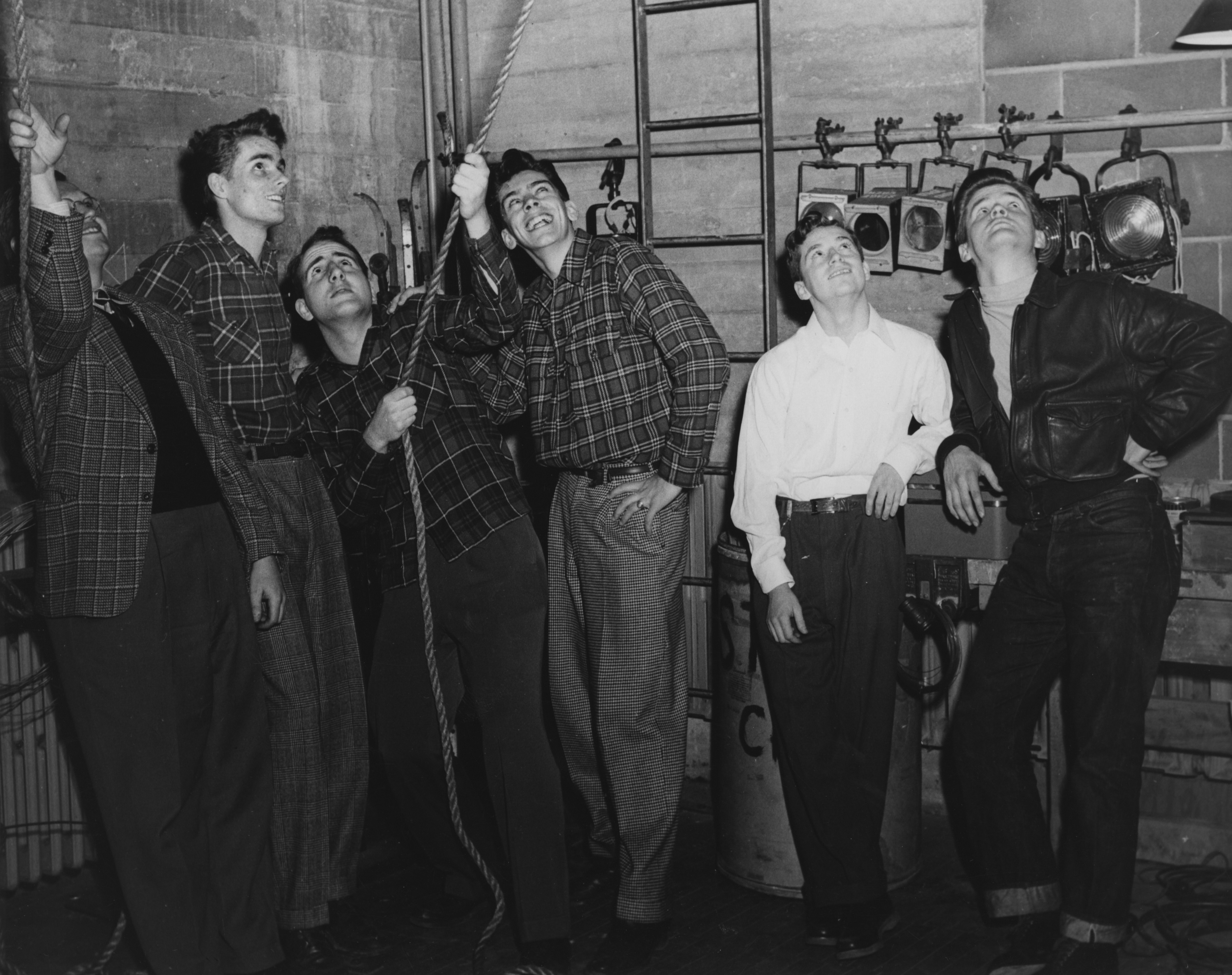 College Theater Stage Crew 1950
