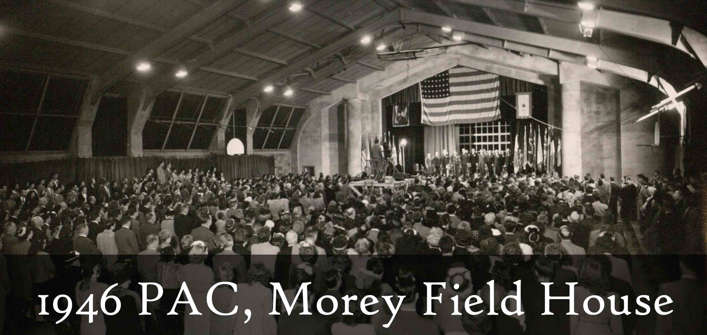 PAC conference at Morey Field House