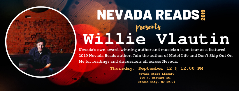 Willy vlautin nevada reads talk on sept. 12