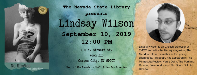 Lindsay wilson author talk on Sep. 10, 2019 banner